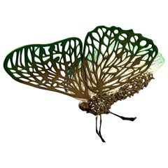 Handcut Wood and Epoxy Butterfly by Andrés Paredes, Argentina, 2018