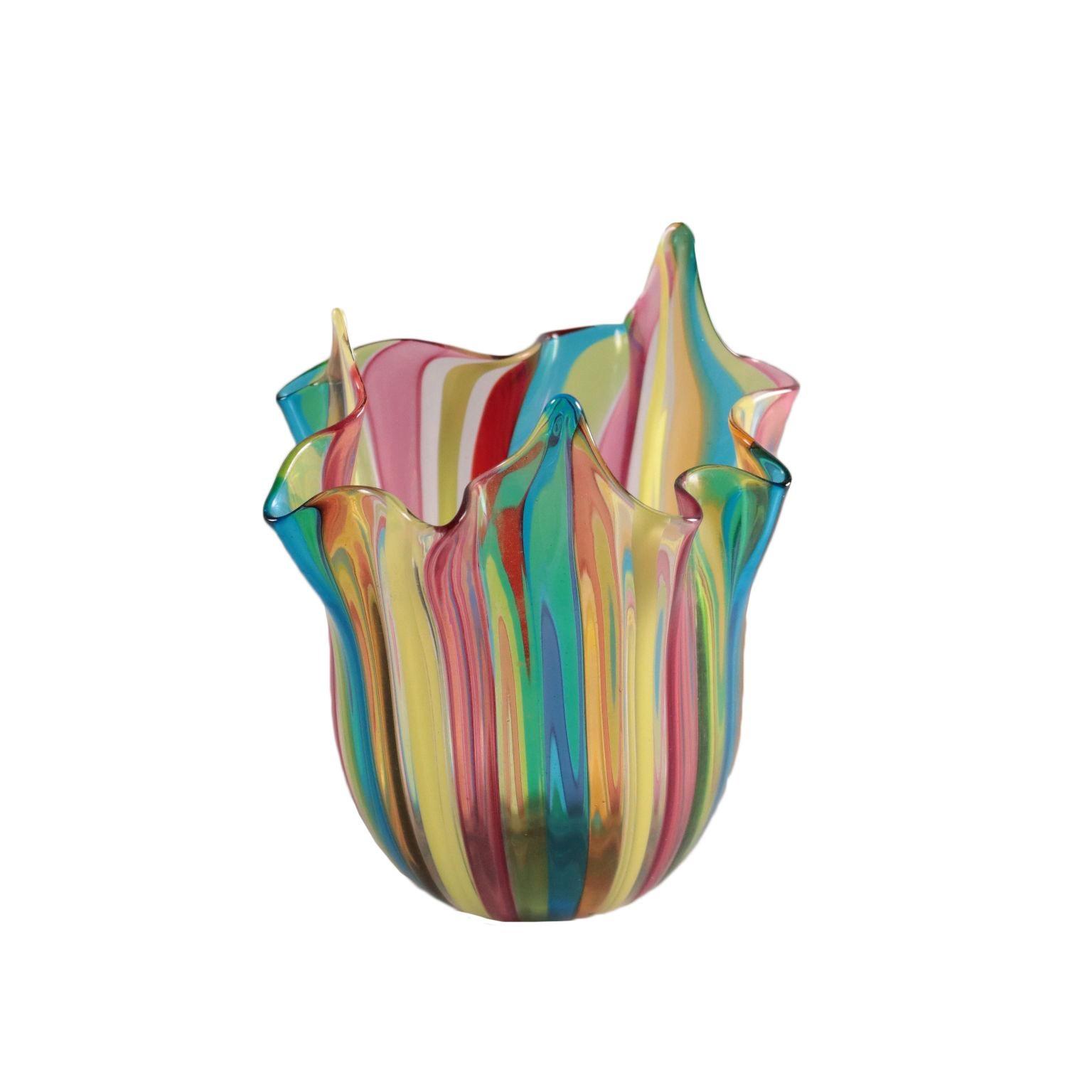 Handkerchief Vase Blown Glass Murano Italy 20th Century