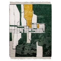 Handknotted Himalayan Wool + Indian Rough Silk Rug, cc-tapis