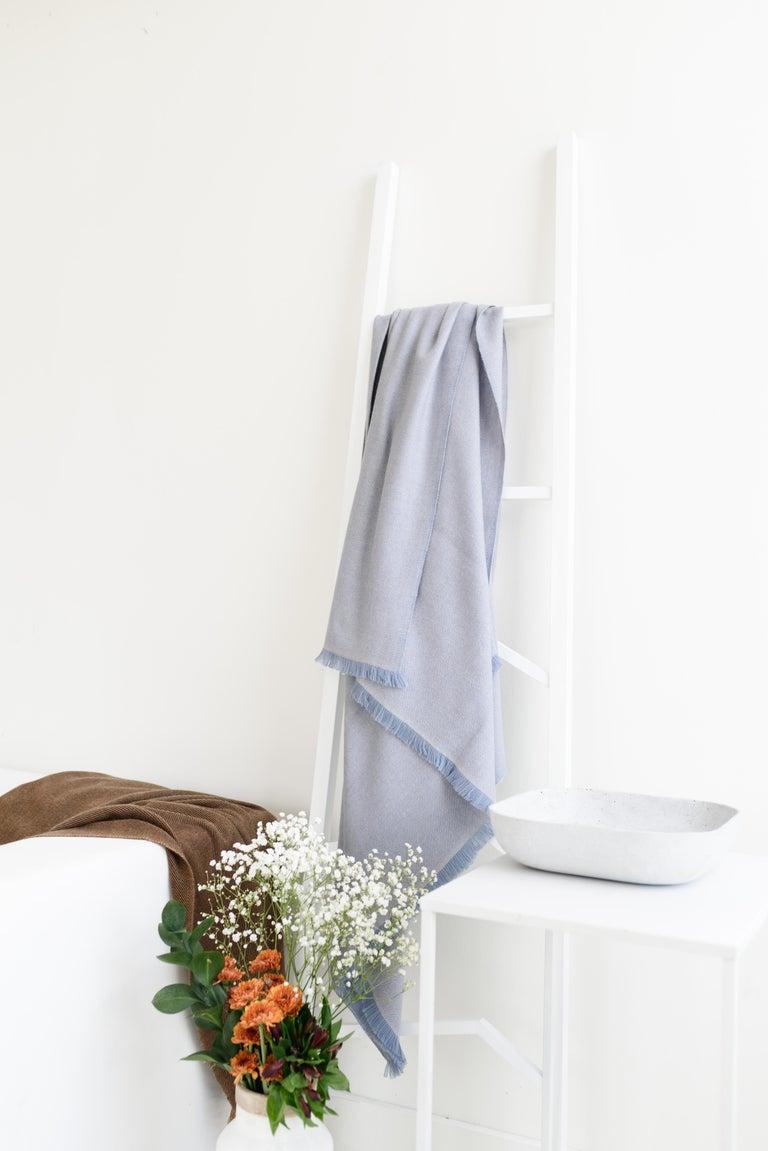 Nepalese BORO Handloom Throw / Blanket In Soft Merino Twill Weave For Sale