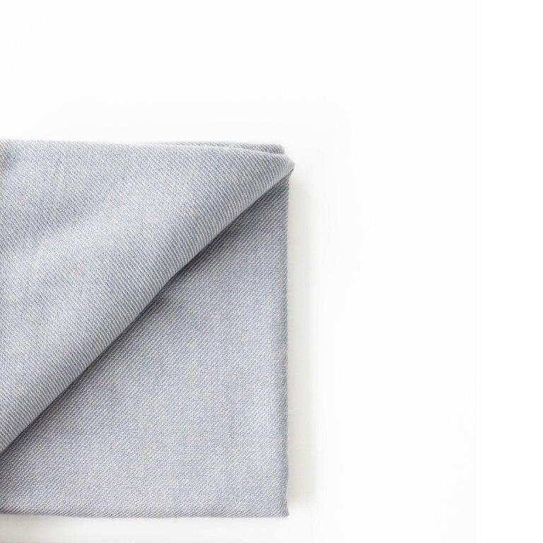 BORO Handloom Throw / Blanket In Soft Merino Twill Weave For Sale 2