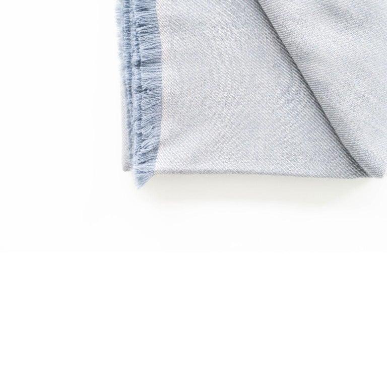 BORO Handloom Throw / Blanket In Soft Merino Twill Weave For Sale 3