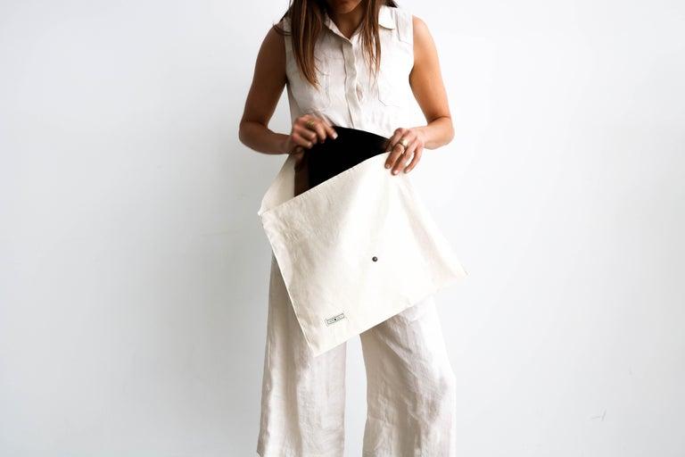 BORO Handloom Throw / Blanket In Soft Merino Twill Weave For Sale 4
