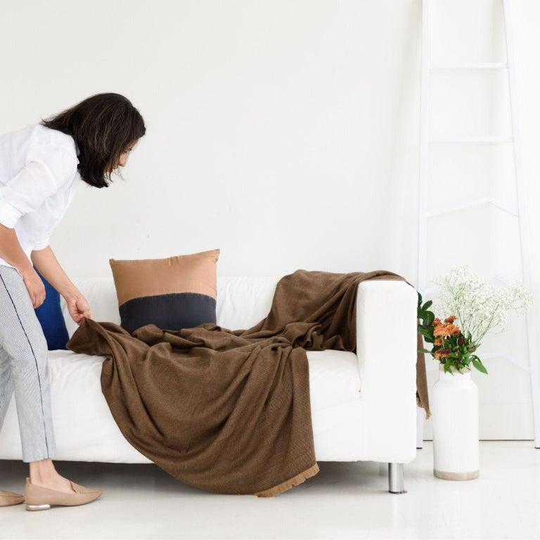 Yarn HAY Handloom  Throw / Blanket For Sale