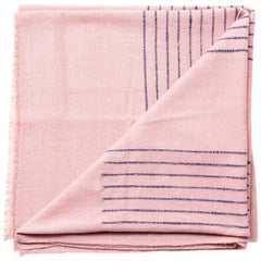Rosewood Dusty Pink Handloom Throw / Blanket in Stripe Design