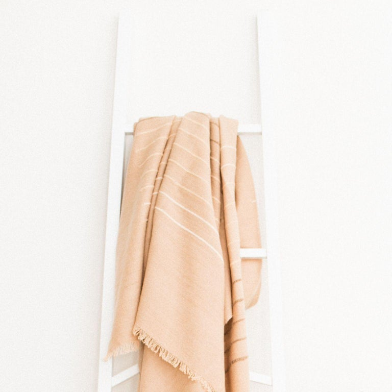 Modern TERRA Throw /  Blanket In Soft Merino For Sale