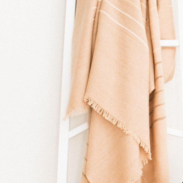 Nepalese TERRA Throw /  Blanket In Soft Merino For Sale