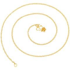 Handmade 20 Karat Yellow Gold Chain Necklace