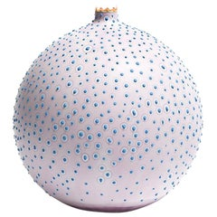 Handmade 21st Century Large Pasteur Vase in Sterling Lavender by Elyse Graham