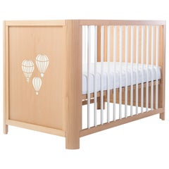 Handmade 5-in-1 Sense of Freedom Crib in Wood by MISK Nursery