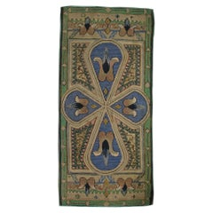 Handmade American Antique Arts & Crafts Hooked Rug, 1900s