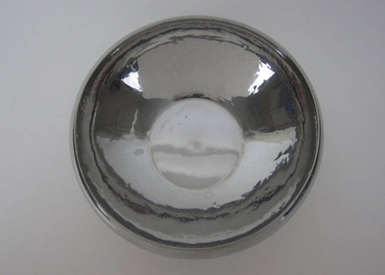 American Arts & Crafts Hammered Pewter Bowl by Porter Blanchard For Sale 6