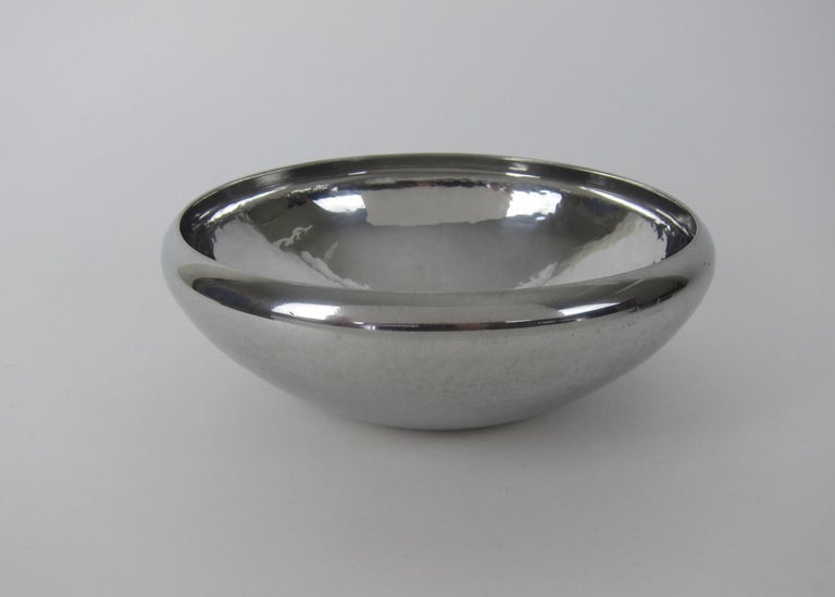 Arts and Crafts American Arts & Crafts Hammered Pewter Bowl by Porter Blanchard For Sale