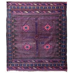 Handmade Antique Afghan Baluch Kilim, 1900s, 1P57