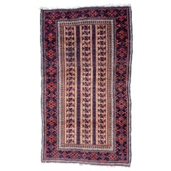 Handmade Antique Afghan Baluch Rug, 1900s, 1P92