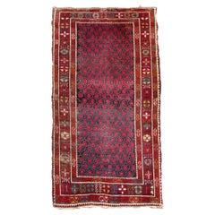 Handmade Antique Afghan Baluch Rug, 1910s, 1Q0081