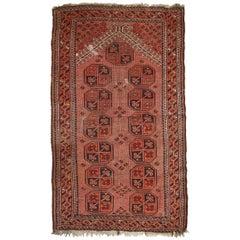 Handmade Antique Afghan Baluch Rug, 1930s, 1C656