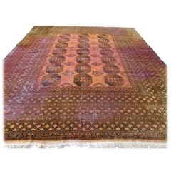 Handmade Antique Afghan Ersari Rug, 1930s, 1Q0140