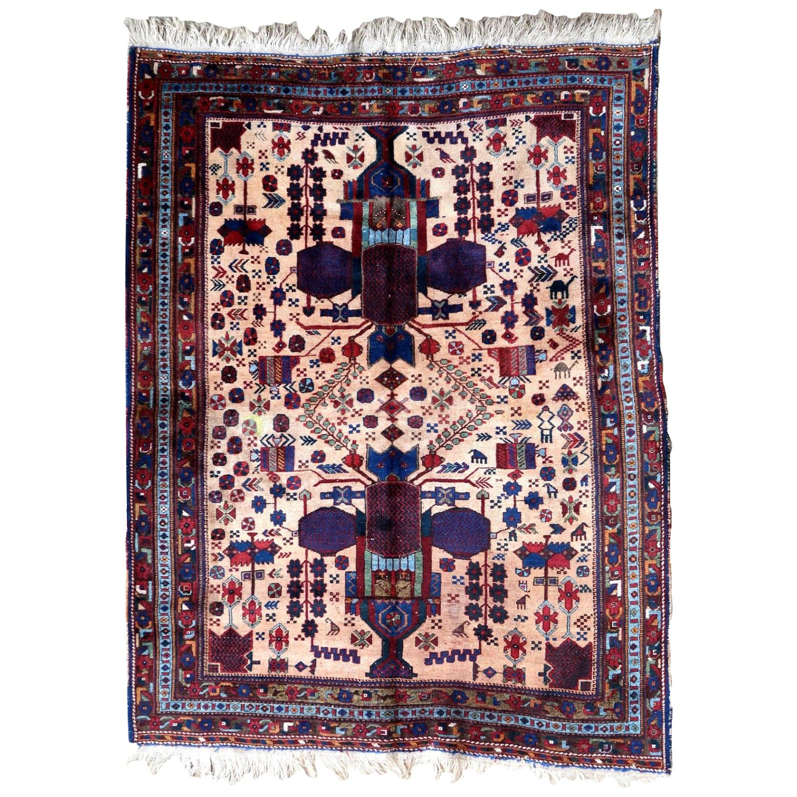 Handmade Antique Afshar Style Rug, 1930s, 1P67