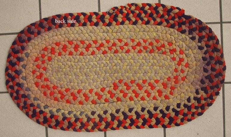 Handmade Antique American Braided Rug