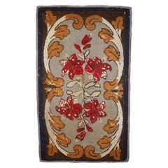 Handmade Antique American Hooked Rug, 1900s, 1C672