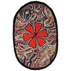 Handmade Antique American Hooked Rug, 1920s, 1C702