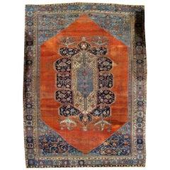 Handmade Antique Bakshaish Style Rug, 1880s, 1B845