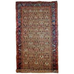 Handmade Antique Bakshaish Style Rug, 1880s, 1B687