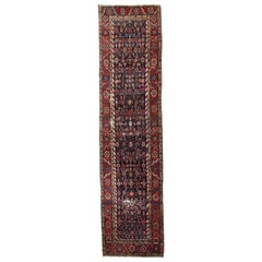 Handmade Antique Bakshaish Style Runner, 1880s, 1B683