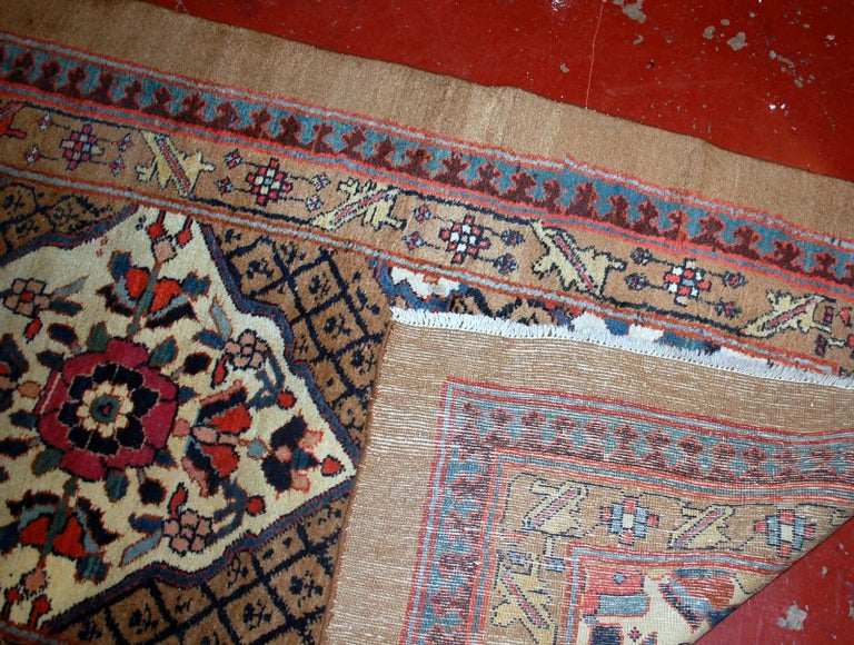Handmade antique camel hair runner in original good condition from the end of 19th century. This runner is wide and 15 feet long.  -condition: original good,  -circa 1880s,  -size: 4' x 15.2' (122cm x 463cm),  -material: wool,  -country of