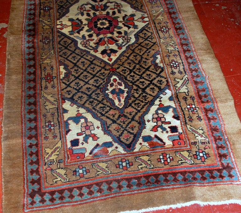 Handmade Antique Camel Hair Style Runner, 1880s, 1B556 In Good Condition For Sale In Bordeaux, FR