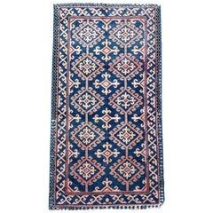 Handmade Antique Caucasian Avar Rug, 1900s, 1p49