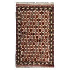 Handmade Antique Caucasian Tribal Living Room Rug, All-Over Pattern Carpet Rug