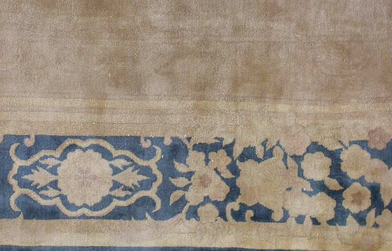 20th Century Handmade Antique Chinese Art Deco Rug, 1930s, 1L10 For Sale