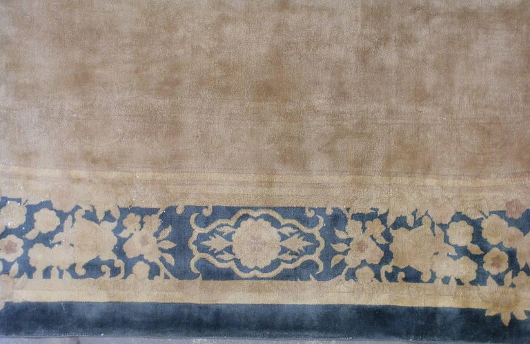 Wool Handmade Antique Chinese Art Deco Rug, 1930s, 1L10 For Sale