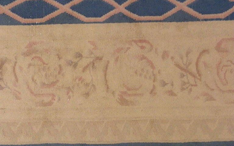 Wool Handmade Antique Chinese Art Deco Rug, 1930s, 1L12 For Sale