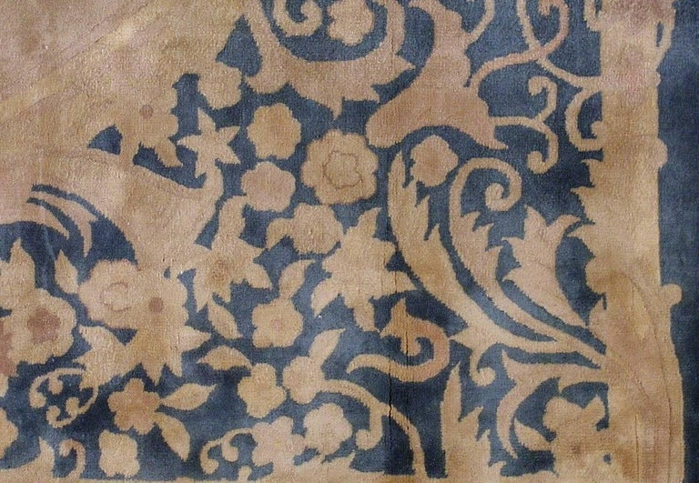 Handmade Antique Chinese Art Deco Rug, 1930s, 1L10 For Sale 1