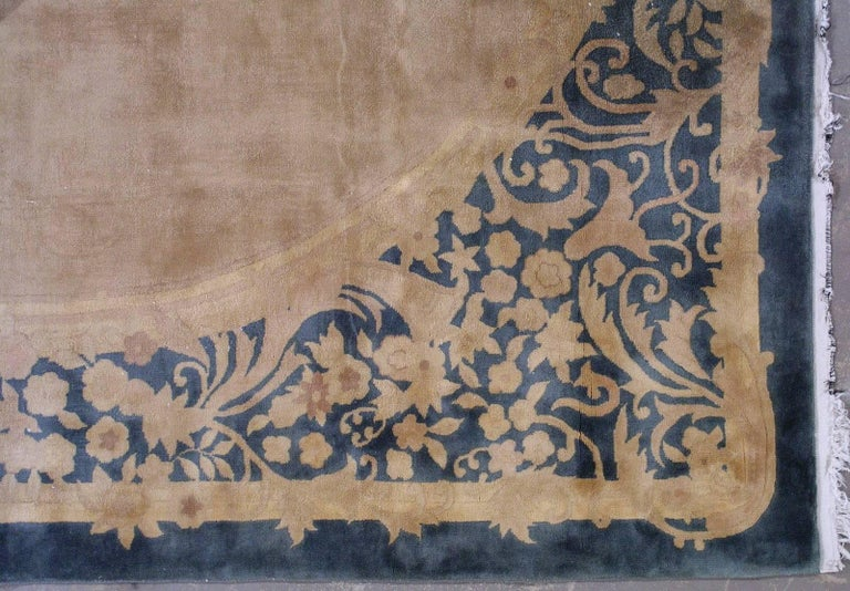 Handmade Antique Chinese Art Deco Rug, 1930s, 1L10 For Sale 2