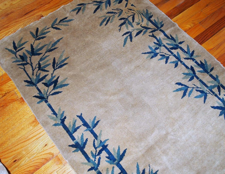 Hand-Knotted Handmade Antique Chinese Peking Rug, 1900s, 1B866 For Sale