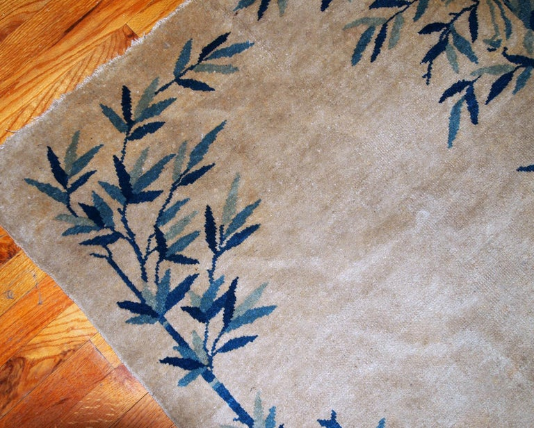 Handmade Antique Chinese Peking Rug, 1900s, 1B866 In Fair Condition For Sale In Bordeaux, FR