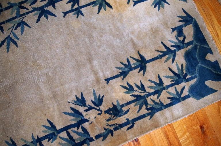 Wool Handmade Antique Chinese Peking Rug, 1900s, 1B866 For Sale