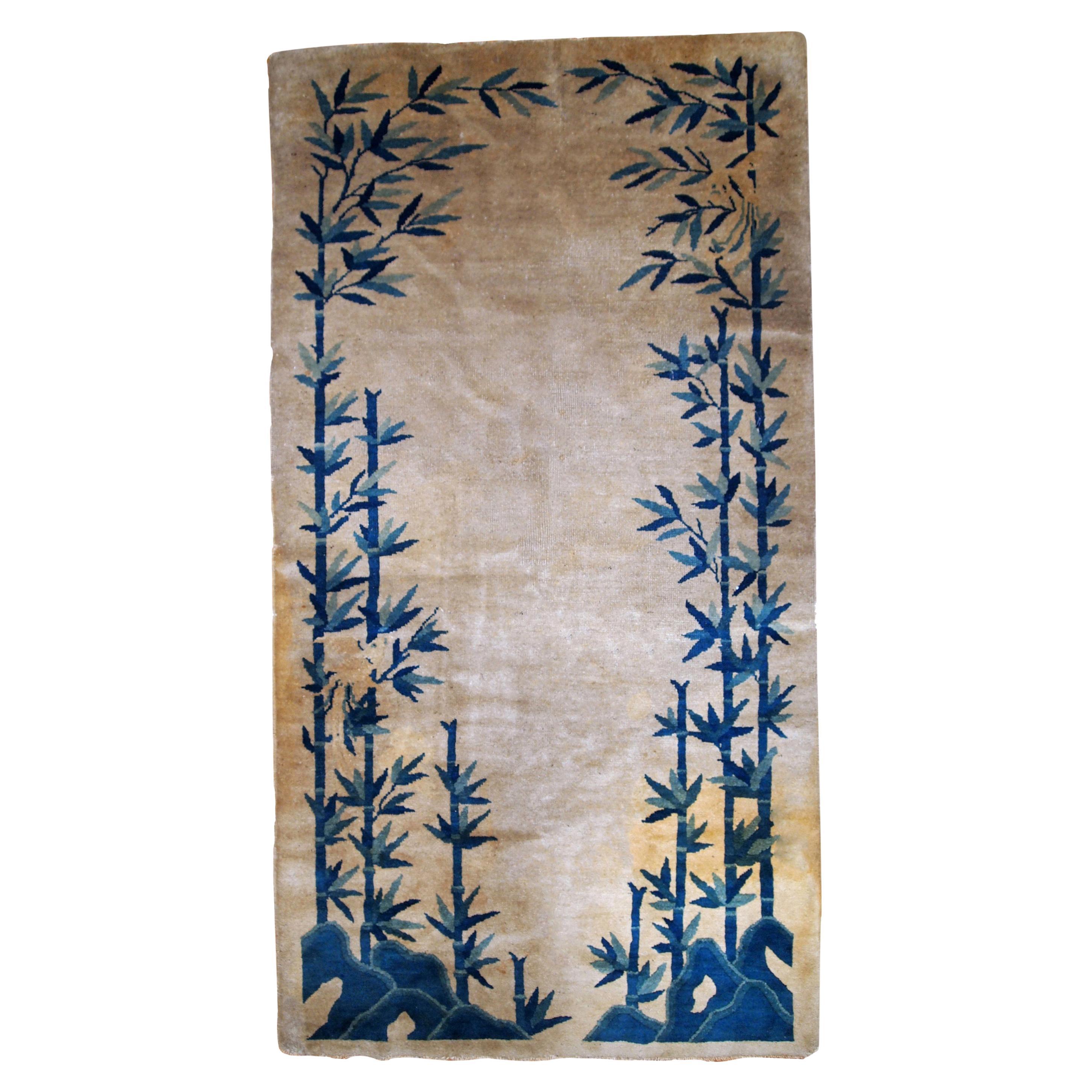 Handmade Antique Chinese Peking Rug, 1900s, 1B866
