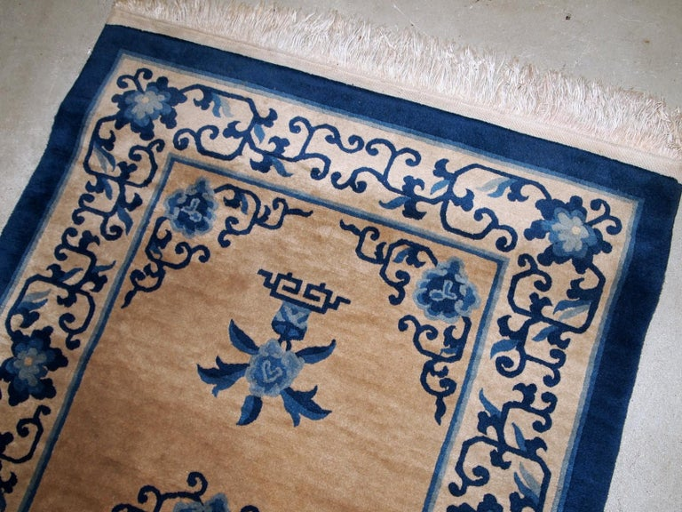 Mid-20th Century Handmade Antique Chinese Peking Rug, 1940s, 1B854 For Sale