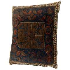 Handmade Antique Collectible Afghan Baluch Saddle Bag Tribal Floor Cushion