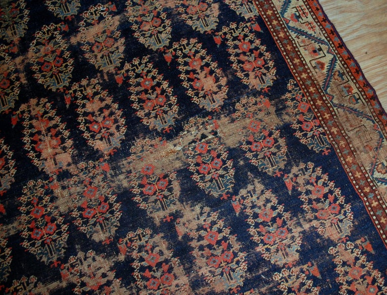 Handmade Antique Collectible Northwest Style Runner, 1830s, 1B549 In Distressed Condition For Sale In Bordeaux, FR