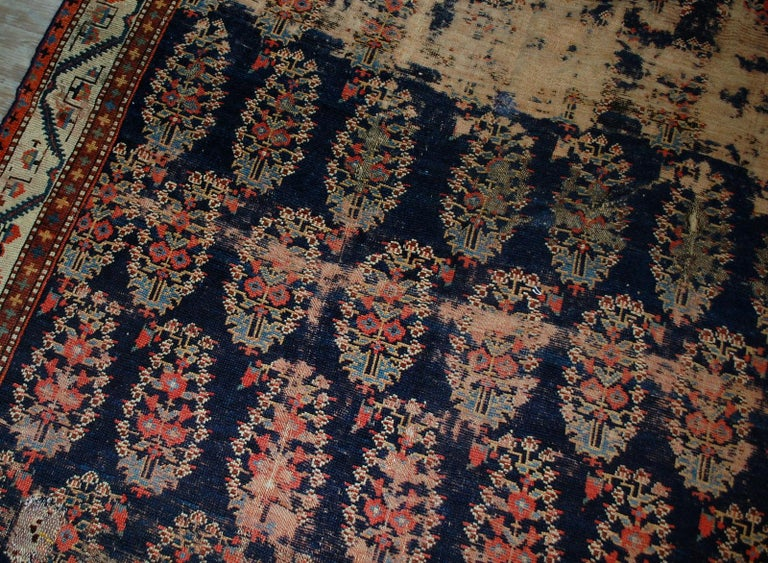 Mid-19th Century Handmade Antique Collectible Northwest Style Runner, 1830s, 1B549 For Sale