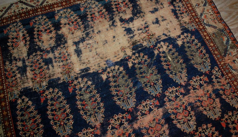 Wool Handmade Antique Collectible Northwest Style Runner, 1830s, 1B549 For Sale