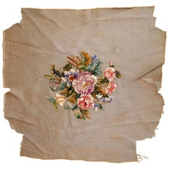 Handmade Antique English Embroidery, 1930s, 1C673