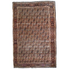 Handmade Antique Farahan Style Rug, 1900s, 1B794