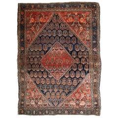 Handmade Antique Farahan Style Rug, 1900s, 1B830